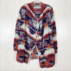 Lucky Brand | Aztec Drape Front Sweater